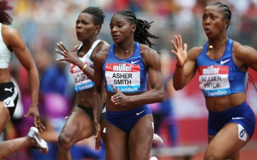 Dina Asher-Smith sets sights on World Championships after trailing in Shelly-Ann Fraser-Pryce's wake at Anniversary Games