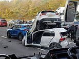 Major multi-car crash on M40 closes busy motorway for third time in three days