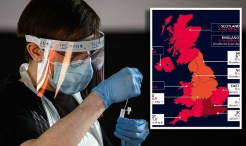 R-rate in my area: UK map shows new regions where Covid cases are increasing