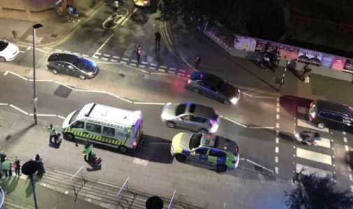 Attempted murder arrests after car driven into group leaving hotel