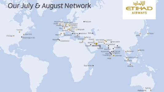 Etihad expands network to 58 destinations