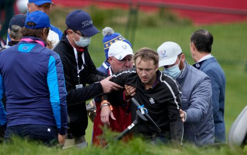Harry Potter star Tom Felton collapses on 18th hole at Whistling Straits during Ryder Cup Celebrity Match