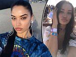Victoria's Secret model Shanina Shaik sizzles as she watches Kanye West at Coachella