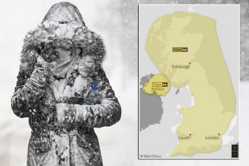 UK weather forecast: Thundersnow to hit as ice warning in place for ENTIRE country