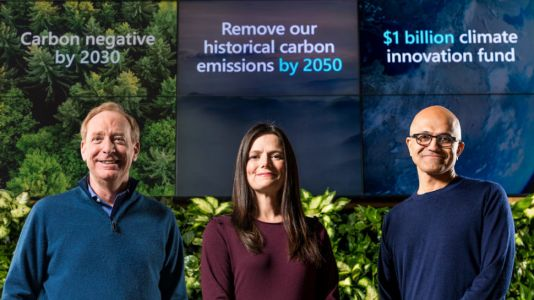 Microsoft pledges to go carbon negative by 2030