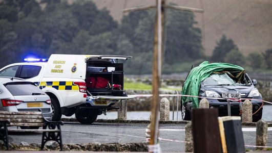 Man hospitalised after car plunges into water at Strangford