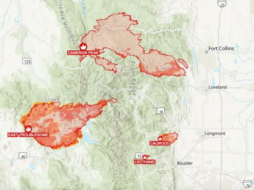 The aptly named East Troublesome Fire brings red skies, evacuations to the Rocky Mountains