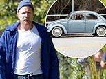 Ewan McGregor is spotted driving in his '£20,000' vintage Volkswagen Beetle in LA