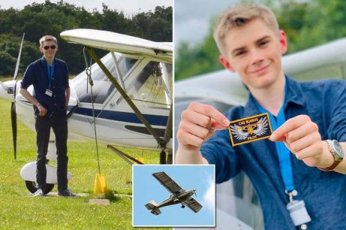 Boy becomes Britain's youngest solo pilot - but is still too young to drive car