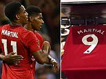 Manchester United news: Anthony Martial retakes Manchester United No 9 shirt following Lukaku exit