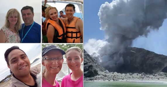 First pictures of the 13 dead and missing after New Zealand volcanic eruption