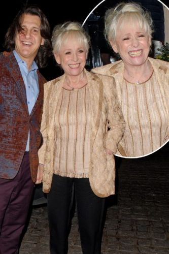 Barbara Windsor laughs with husband Scott Mitchell as she makes rare public appearance amid Alzheimer's battle
