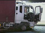 Robber armed with a nail-gun flees police in stolen truck in late-night rampage