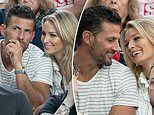 Tim Robards and Anna Heinrich cheer on Serena at Australian Open