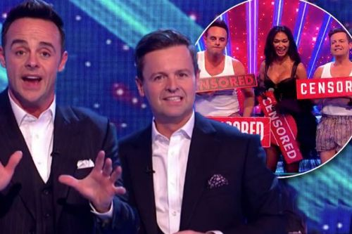 Ant and Dec interrupt the Pussycat Dolls' very raunchy performance - but end up stripping