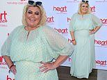 Gemma Collins shows off weight loss in baby blue maxi dress as she attends Heart radio bash