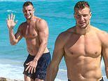 Rob Gronkowski shows he's still rocking the body of an athlete in Miami