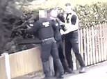 Footage being recorded by man when he was pushed to the ground by a police officer is revealed
