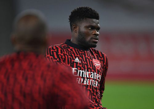 Arsenal receive huge injury boost on eve of north London derby vs Spurs as Thomas Partey is spotted in training