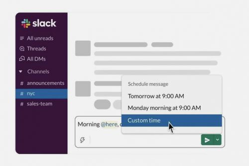 How to schedule Slack messages to send later
