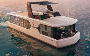 Nazareth Aquadomus first look: Flybridge houseboat is an intriguing crossover