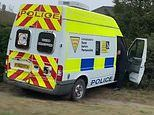 Police speed camera van ends up in hedge after crash with van
