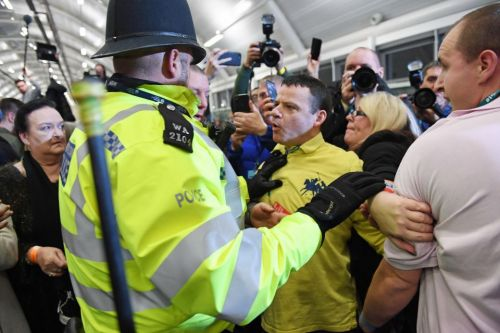 Fight breaks out as John McDonnell is called a 'terrorist' as tensions flare at count