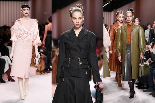 Embracing your sexiness, excellent casting and the quite possibly the best leather coat ever at Fendi AW20