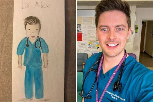 Love Island's Dr Alex George cries as child thanks NHS staff with sweet drawing
