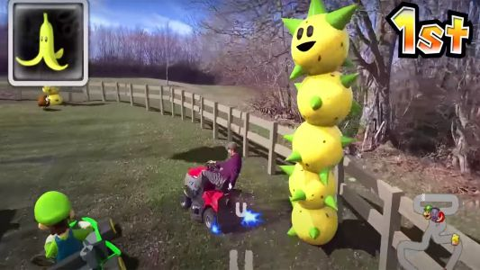 Real-life Mario Kart is the best thing you'll see all day