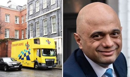 Flying visit: Removal van whisks Sajid Javid out of Downing St after less than 6 months