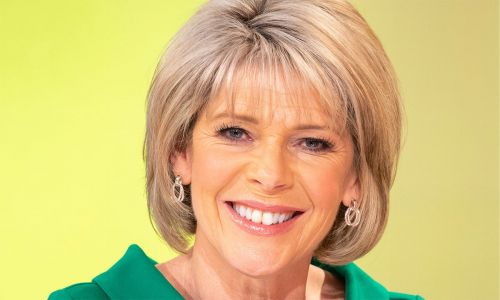 Ruth Langsford has timeless style on Loose Women in a grey check Marks & Spencer blazer