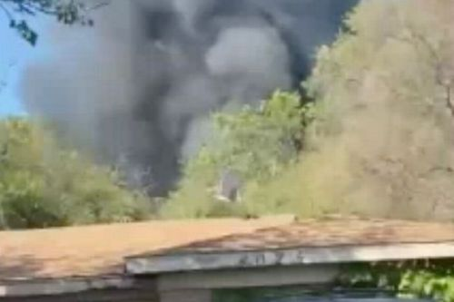 Two pilots forced to eject as military plane crashes - before one got tangled in powerlines