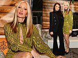 Caprice Bourret steps out in a 70s sequined mini-dress as she joins Jess Wright at book launch