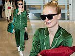 Sophie Turner dons green silk pajamas as she and X-Men crew touch down in South Korea