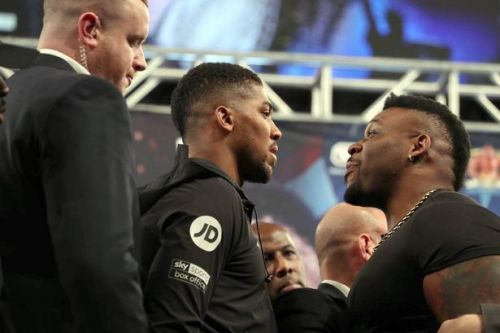 Anthony Joshua's two-word response to Jarrell Miller's failed drugs test