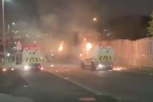 Derry riots: Police cars firebombed and shots fired in streets