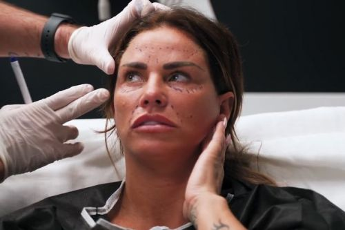 Katie Price 'sobs' as surgeon refuses to pull her skin into 'cat woman face'