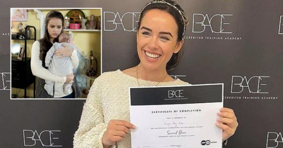 Coronation Street's Georgia May Foote becomes qualified nail technician as she hopes to make others feel good