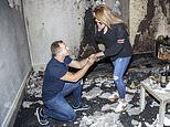 Hapless fiance, 26, set fire to flat when he spelt out 'Marry Me' using tea lights in proposal