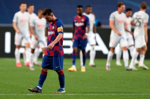 Candid dressing room snap shows heartbroken Lionel Messi after Bayern humbling