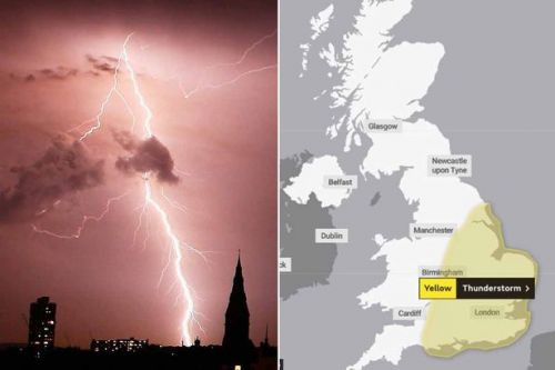 UK weather forecast: Met Office issues thunderstorm warning with torrential rain on way