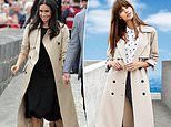Target releases $69 trench coat similar to the $2,300 design worn by Meghan Markle