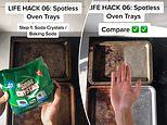 Man wows with his eight-step cleaning hack that leaves dirty oven trays sparkling in 30 minutes