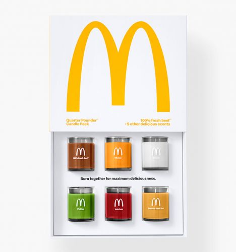McDonald's launched a new scented candle pack that's supposed to smell like a Quarter Pounder when burned together