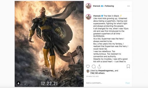 The Rock's first superhero movie, DC's 'Black Adam,' now has a release date. But he's been teasing the project for years