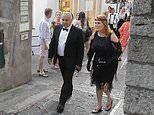 Sarah Ferguson sports retro chic all-black outfit as she attends Lawrence Stroll's birthday party