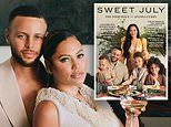 Stephen Curry and his wife Ayesha pose with their three children on the cover of Sweet July