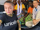 Gigi Hadid visits facilities for women and children in Senegal, Africa as a UNICEF ambassador