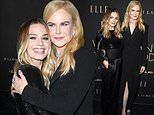 Margot Robbie and Bombshell co-star Nicole match in black at Elle's Women In Hollywood event